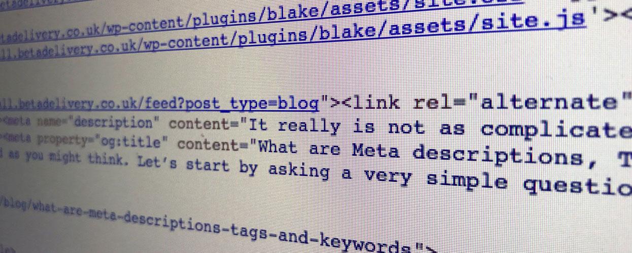 Meta description pour votre site Web