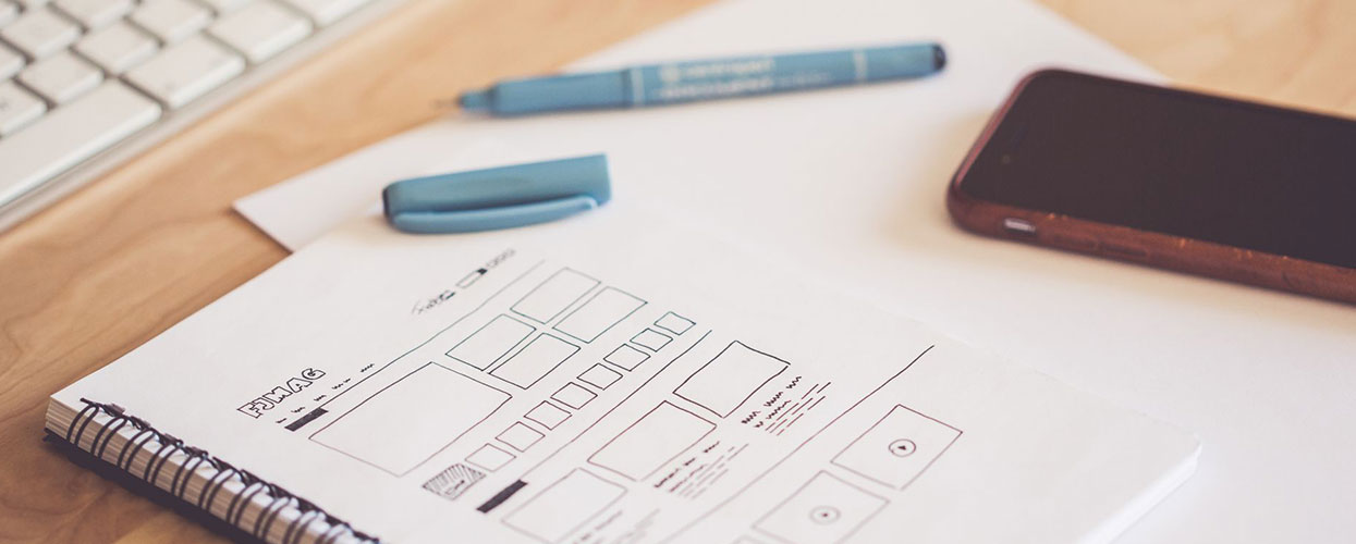 Wireframe Web design