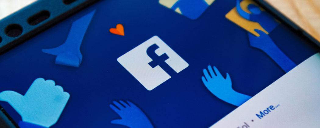Logo Facebook sur un mobile